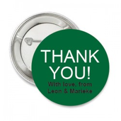 Button Thank You groen met deze of eigen tekst