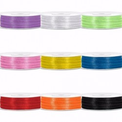 Aantrekkelijk geprijsd pakket met 3 rollen satijnlint van 3 mm x 50 m in een kleur naar keuze