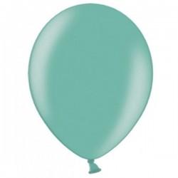 Ballonnen klein, 12 cm extra sterk voor helium of lucht per 10, 20, 50 of 100 stuks metallic aquamarine