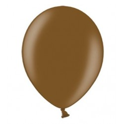 Ballonnen klein, 12 cm extra sterk voor helium of lucht per 10, 20, 50 of 100 stuks metallic chocolade bruin