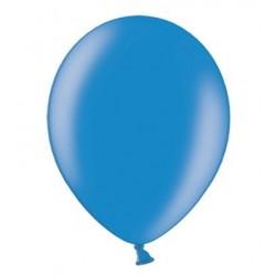 Ballonnen klein, 12 cm extra sterk voor helium of lucht per 10, 20, 50 of 100 stuks metallic korenbloem blauw