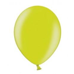 Ballonnen klein, 12 cm extra sterk voor helium of lucht per 10, 20, 50 of 100 stuks metallic lime green