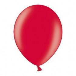 Ballonnen klein, 12 cm extra sterk voor helium of lucht per 10, 20, 50 of 100 stuks metallic rood