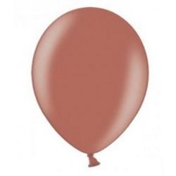 Ballonnen klein, 12 cm extra sterk voor helium of lucht per 10, 20, 50 of 100 stuks metallic sienna bruin