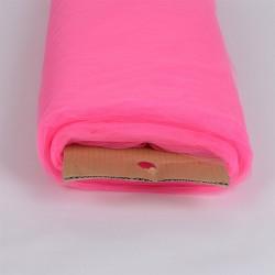 Tule 274 cm breed op rol van 45,7 meter shocking pink