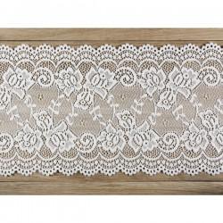 Rol kant van 15 cm breed en 9 meter lang, kleur off-white