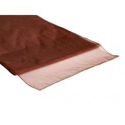 Organza tafelloper bruin