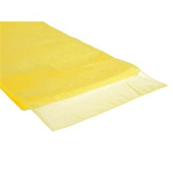 Organza tafelloper per stuk of per 4 stuks geel