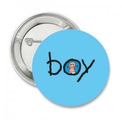 Button Boy eventueel met eigen tekst