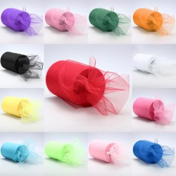 Aantrekkelijk geprijsd tule pakket met 3 rollen van 15 cm x 91,5 m in een kleur naar keuze