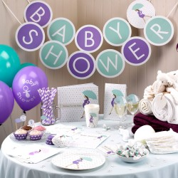 Trendy slinger Babyshower Purple
