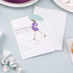 Voorspellings spel Babyshower Purple