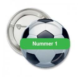Button voetbal met groen vlak voor eigen tekst