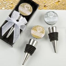 Bottlestopper in geschenkverpakking met doorzichtige deksel en wit strikje