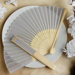 Bamboe waaier zilver