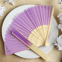 Bamboe waaier lila