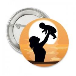 Button Baby World met ruimte voor een eigen tekst