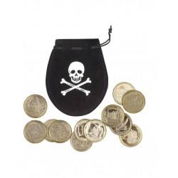 Buidel piraat met 12 munten