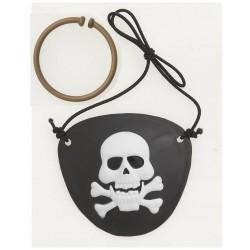 Setje met een piraten ooglap en oorbel