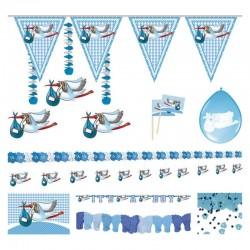 Party pakket Ooievaar blauw
