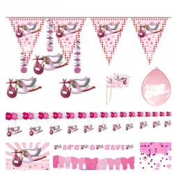 Party pakket Ooievaar roze