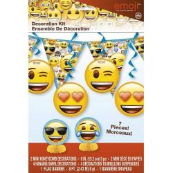 Super vrolijke Emoji Decoratie kit 7-delig