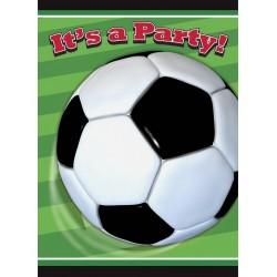 Pak met 8 uitnodigingen Voetbal