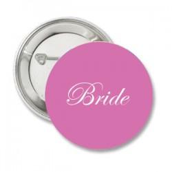 Button Bride roze met deze of eigen tekst