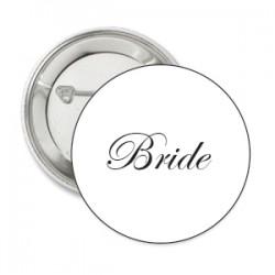Button Bride wit met deze of eigen tekst