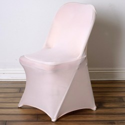 Stretch stoelhoes voor klapstoelen licht roze
