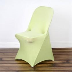 Stretch stoelhoes voor klapstoelen licht groen