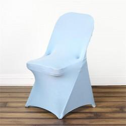 Stretch stoelhoes voor klapstoelen licht blauw