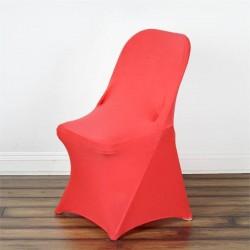 Stretch stoelhoes voor klapstoelen koraal rood