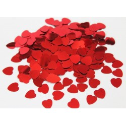 Glans confetti Red Hearts
