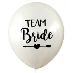 Ballonnen Team Bride Tribe wit
