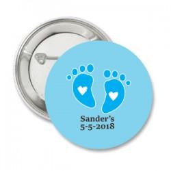 Button Baby voetjes blauw