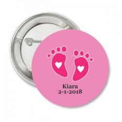 Button Baby voetjes roze