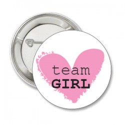 Button Team Loving Heart Pink