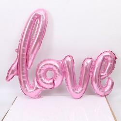 Love XL folieballon roze van ruim 1 meter groot