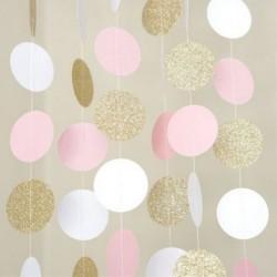 Confetti slinger roze wit goud glitter