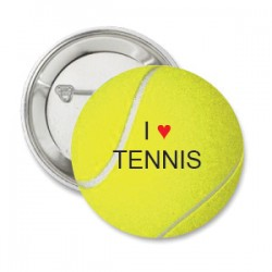 Button tennisbal met tekst i love tennis