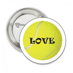 Button tennisbal LOVE