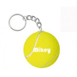 Sleutelhanger tennisbal met naam
