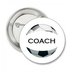 Button voetbal met tekst naar keuze