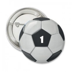 Button voetbal team nummer