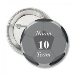 Button voetbal met naam en team naar keuze