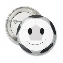 Button voetbal smiley