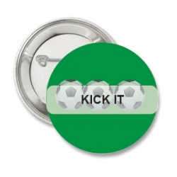Button Kick It groen