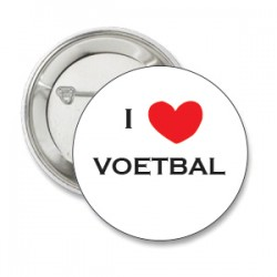 Button i love voetbal