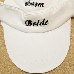 Witte zonneklep Bride of Groom